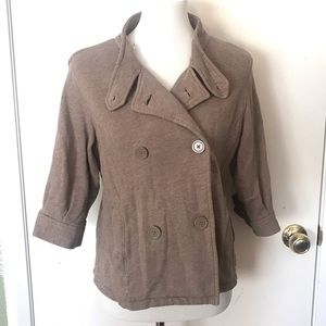 GAP Cropped Peacoat Style Jacket Brown Small